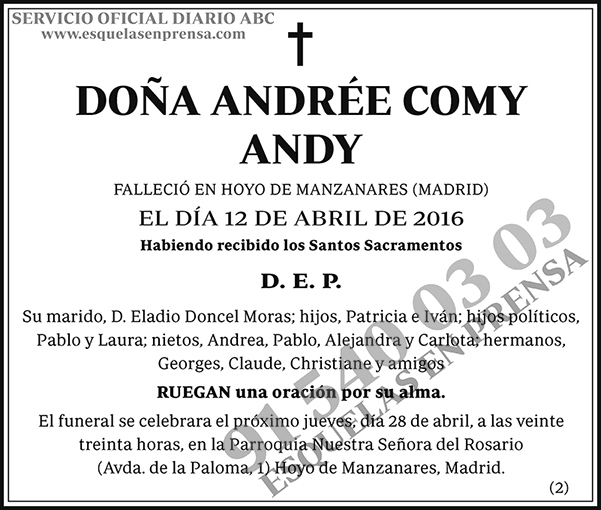 Andrée Comy Andy